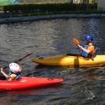 ( ・×・)江東区の竪川河川敷公園でカヤックを激安で体験できるよ