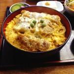 ( ・×・)稲荷町の長寿庵でカツ丼を食す