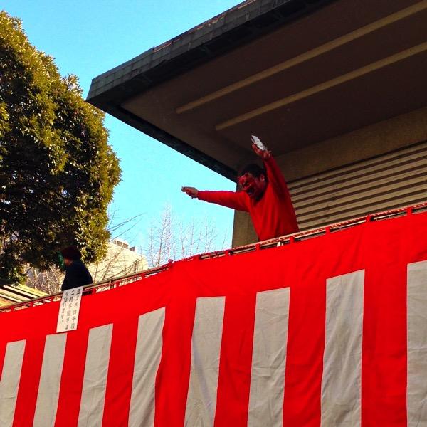 下谷神社の豆まき
