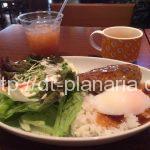 ( ・×・)五反田TOCにあるハワイアンなカフェでロコモコいただきます「カフェマハロ」