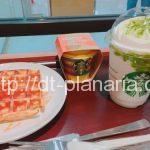 ( ・×・)スターバックスコーヒーでケーキがまるごと入ったフラペチーノとマンゴープリンでデザートタイム