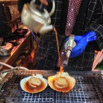 ( ・×・)築地の場外市場でのんびり食べ歩き ホタテ・牡蠣・玉子焼き・海ぶどう