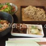 ( ・×・)奥渋谷の裏路地の蕎麦屋で、オシャレに蕎麦ランチセットを食べてきました