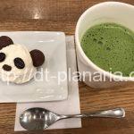 ( ・×・)エキュート上野でパンダの抹茶ミルクを飲んできました