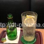 ( ・×・)期間限定ペリエとレモン&ミントの炭酸水のサッパリドリンクにはクリアファイルも付いています!エクセルシオールカフェ