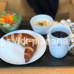 ( ・×・)札幌、大通り公園の「きのとやカフェ」でクラムチャウダーのモーニング