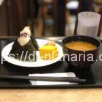 ( ・×・)JR上野駅「エキュート上野」にあるおむすび屋さんさんでお味噌付きセットをイートイン!「旬米むすび ほんのり屋」