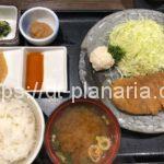 ( ・×・)目の前の石盤で自分で焼きながら食べるスタイルの牛カツ屋さん「牛かつもと村 上野店」